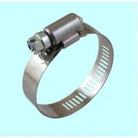 Хомут червячный CNIC     18-28/12,7мм W2 нержавеющая сталь с оцинкованным винтом SAE J1670 (05B1828)