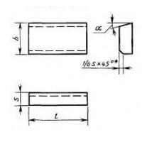 Пластина 01351 Т5К10 (10х6х4х18гр) (для проходных,расточных и револьверных резцов)