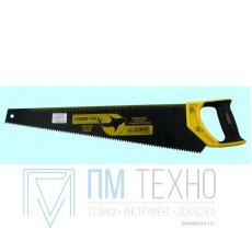 Ножовка 500мм прямой шаг 4,5мм с пластмассовой ручкой, скош. полотно
