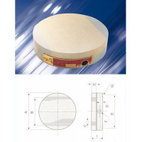 Плита магнитная круглая Х51  d160 сила притяжения 90 N/см кв.