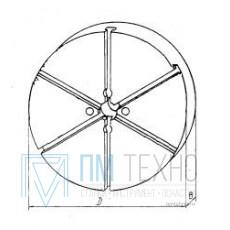 Плита Круглая d 120х 25 с радиальным расположением Т-образных пазов 8мм (восстановленная)