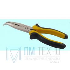 Плоскогубцы 180 мм комбин. с изолир. ручками с удл. отогнутыми губками (1000В)