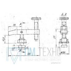 Прижим-качалка  65х 37х16,5 с квадратным концом стержня (ДСПМ8-09)