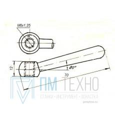 Рукоятка 70х 12 с гайкой М8х1,25 шаровая (ДСП-87)