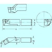 Резец Расточной 25х25х240 Р9К8 для сквозных отверстий
