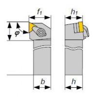 Резец Проходной 25х25х150 (CTGNR-25 25-М16 Н2) с 3-х гр. пласт. без отв. ВК8 (+к-т 20шт)